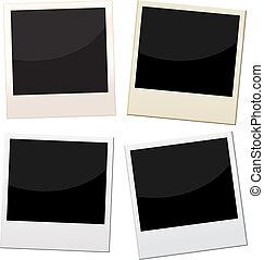 polaroid frames - Polaroid frames, 4 pieces of polaroid with...