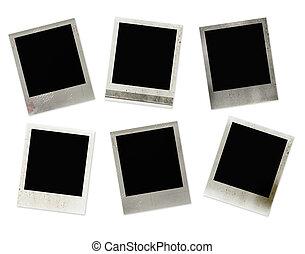 Polaroid frames - Set of 6 polaroid frames with grunge...