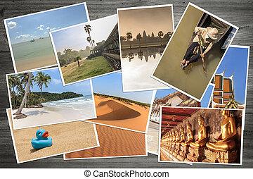 polaroid holiday pictures / photos