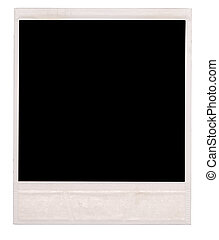 polaroid isolated on a white background