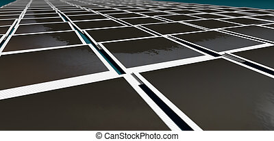 Polaroid Layout Rows Perspective - A perspective view of a ...