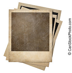 polaroid old photo frames stack isolated - polaroid retro...