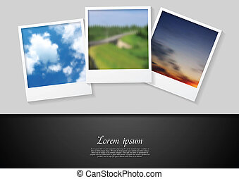 Polaroid photo abstract background - Polaroid photo abstract...