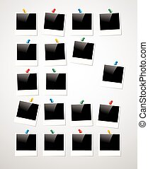 Polaroid photo frame background - Retro Polaroid photo frame...