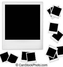 Polaroid photo frame isolated on white background. Vector...