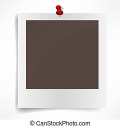 Polaroid photo frame isolated on white background. Vector illustration