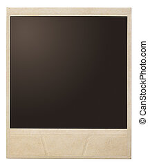 polaroid photo frame isolated