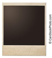 polaroid photo frame isolated