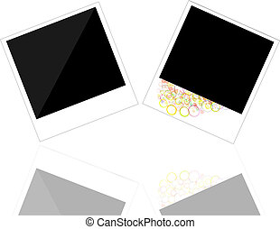 Polaroid photo frame on white background