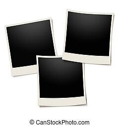 Polaroid photo frame on white