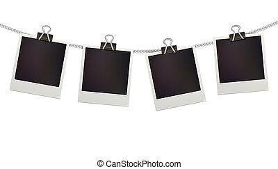 Polaroid photo frames - illustration of four blank retro ...