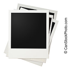 polaroid photo frames stack isolated - polaroid photo frames...