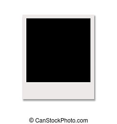 polaroid photo isolated on white background