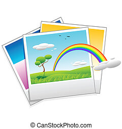 Polaroid Photo of Landscape - illustration of polaroid photo...