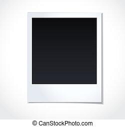polaroid, photoframe, op wit, achtergrond