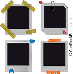 Polaroid picture frame set - A set of polaroid or instant...