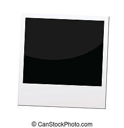 polaroid, quadro fotografia, ou, borda, vetorial