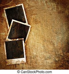 polaroid, quadro, ligado, grunge
