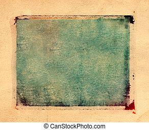 Polaroid Transfer border - Green and yellow grungy creative...