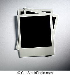 Polaroid Vintage empty photo cards on white background