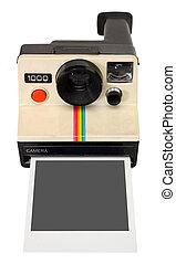 polaroidkamera, ögonblicklig kamera
