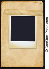 polaroidkamera, på, sida