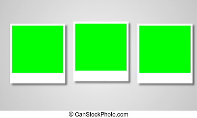 Polaroids frames with green screen for your photo. 3d ...