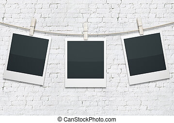 hanging polaroid gallery a gallery of blank polaroids stock photographs search photo clip. Black Bedroom Furniture Sets. Home Design Ideas