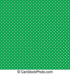polca, brillante, verde, seamless, puntos