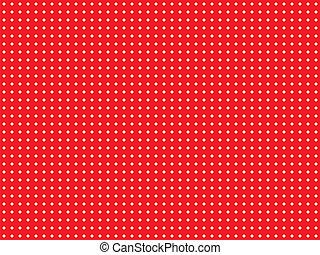 polca, rojo, punto