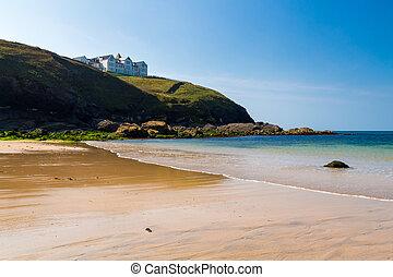 Poldhu Cove Cornwall England - Summers day at Poldhu Cove on...