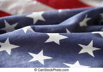 pole, bandera, gwiazda, usa