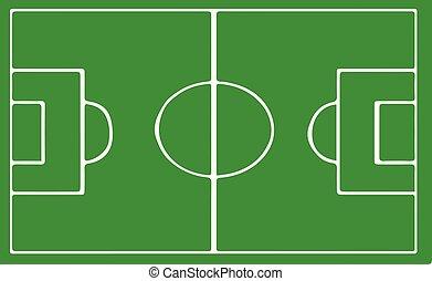 pole, biały, wektor, tło, piłka nożna