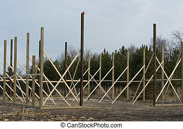 Pole Building  - A Pole Building being constructed