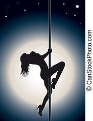 Pole dance  - girl who does a Pole dance
