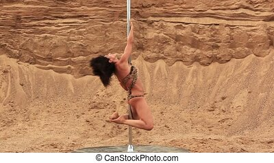 Pole dance woman/
