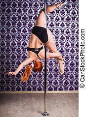 pole dance woman