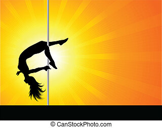 Pole dancer - Sexy pole dancer