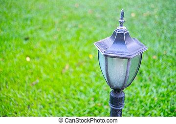 Pole metal black vintage lamp