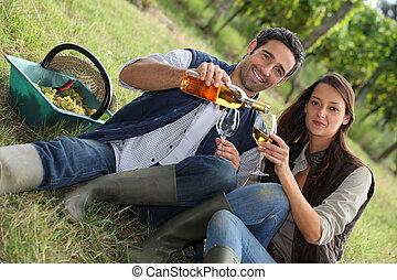 pole, para, wino