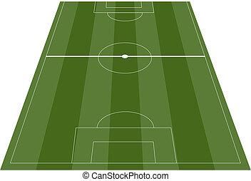 pole, piłka nożna, soccer smoła