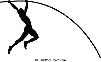 pole vault athlete jumper