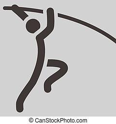pole vault icon - Summer sports icons - pole vault icon