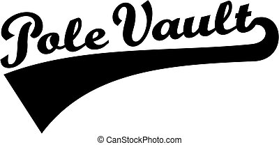 Pole vault word retro