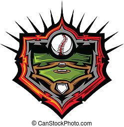 pole, wektor, baseball