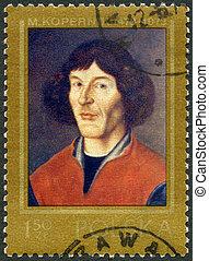 polen, -, circa, 1973:, een, postzegel, bedrukt, in, polen,...