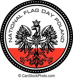 polen markierungsfahne, national, tag