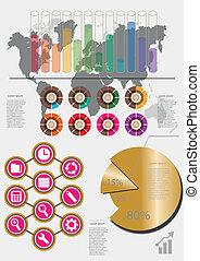 poles circles gilded colour