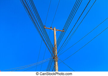 Poles, power lines