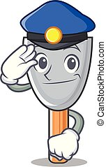 policía, hoja, carácter, caricatura, masilla